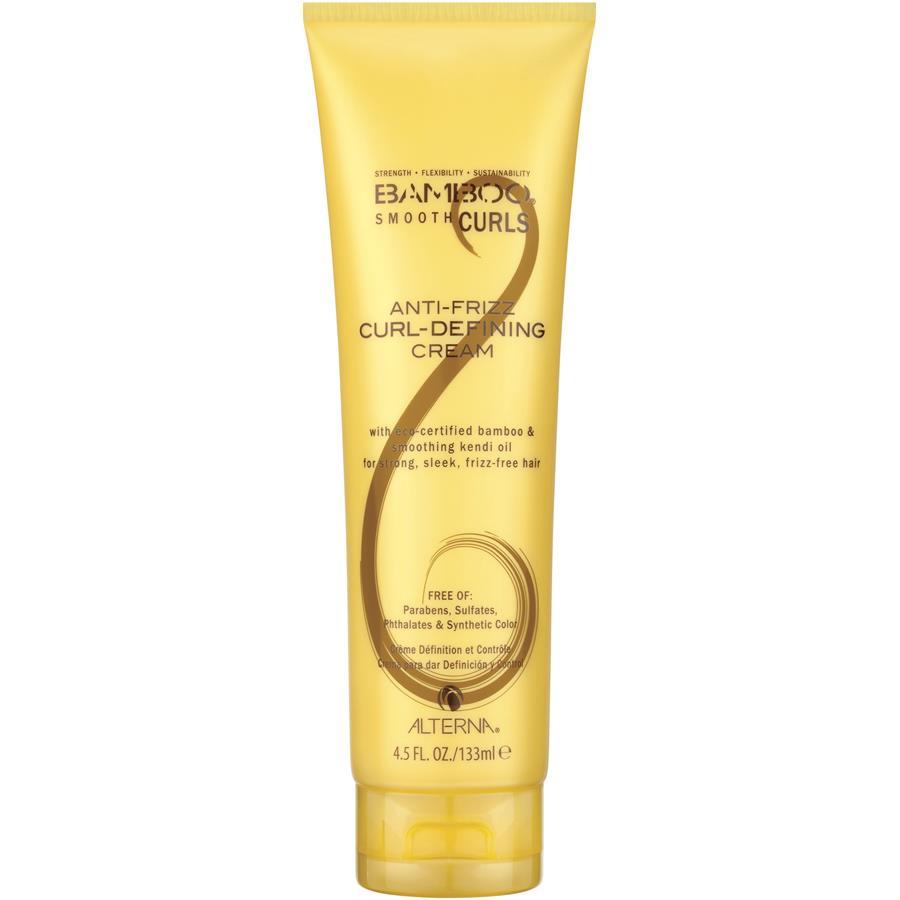 Alterna Полирующий крем для возрождения кудрей Bamboo Smooth Curls Anti-Frizz Curl-Defining Cream — 133 мл48567В состав крема Alterna Bamboo Smooth Curls Anti-Frizz Curl-Defining Cream входят масла Омега 3, 6 и 9, которые увлажняют и питают липидный слой волос, избавляют от пушистости и защищают от повреждений. Экстракт бамбука благодаря своим укрепляющим свойствам придает силу, возвращает подвижность локонам, наполняет волосы интенсивным увлажнением и живительным питанием, что закладывает фундамент красивых здоровых волос.