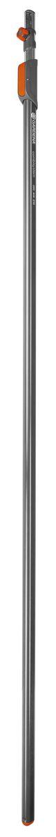 Ручка телескопическая Gardena, длина 210-390 см03721-20.000.00Ручка телескопическая Gardena служит для обеспечения удобства работы на высоте. Изделие имеет запатентованное соединение ручек с инструментами.Высококачественная легкая прочная алюминиевая конструкция оснащена защелкой, которая предотвращает проворачивание.