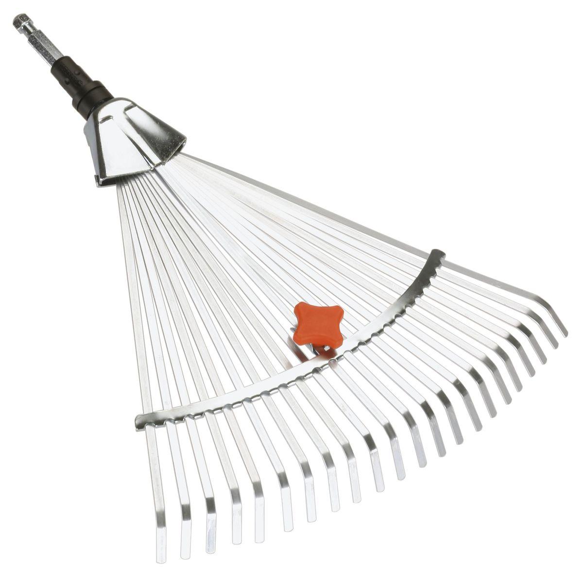 Грабли веерные Gardena, регулируемые, без ручки грабли веерные gardena 03022 20 000 00