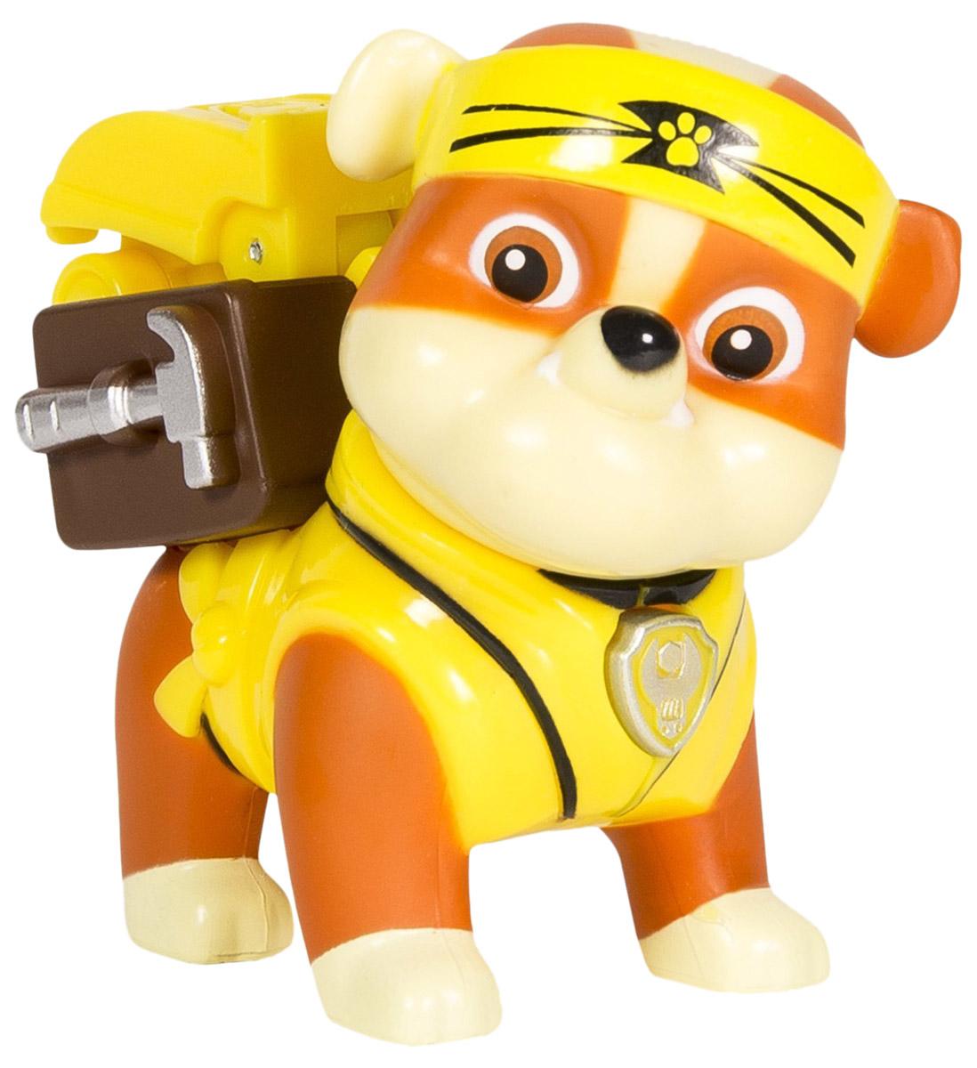 Paw Patrol Фигурка Rubble с рюкзаком-трансформером тренировочный центр paw patrol