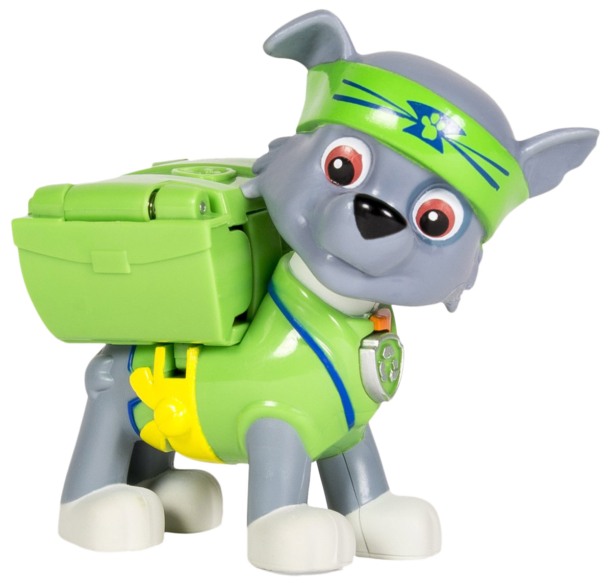 Paw Patrol Фигурка Rocky с рюкзаком-трансформером тренировочный центр paw patrol