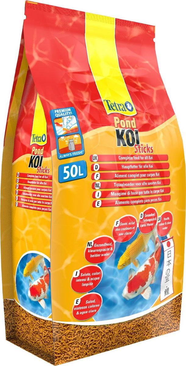 Корм сухой Tetra Pond. Koi Sticks для прудовых рыб, палочки, 50 л (7,5 кг)