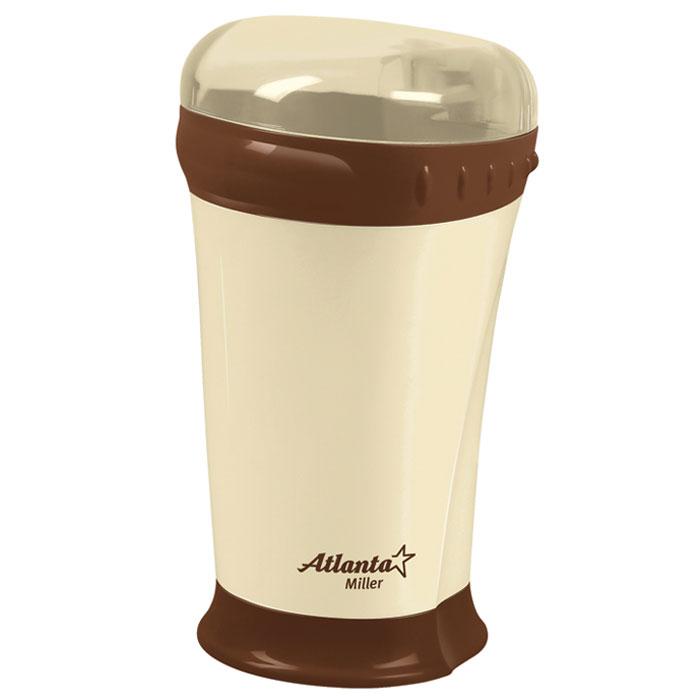 Atlanta ATH-276, Brown кофемолкаATH-276_brownМощная кофемолка Atlanta ATH-276 с острым ножом из нержавеющей стали способна быстро перемолоть кофейные зерна. Корпус из высококачественного пластика и плотно закрывающаяся крышка обеспечивают надежность конструкции. Кофемолка Atlanta ATH-276 идеально перемелет зерна для приготовления любимого вами бодрящего напитка.