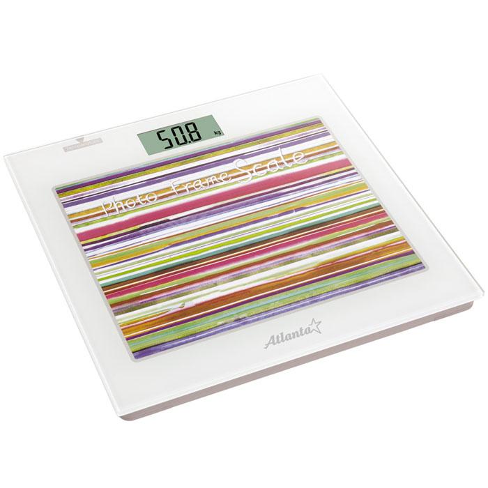 Atlanta ATH-826 весы напольныеATH-826Напольные электронные весы Atlanta ATH-826 - неотъемлемый атрибут здорового образа жизни. Они необходимы тем, кто следит за своим здоровьем, весом, ведет активный образ жизни, занимается спортом и фитнесом. Очень удобны для будущих мам, постоянно контролирующих прибавку в весе, также рекомендуются родителям, внимательно следящим за весом своих детей.Фоторамка 25 х 20 смЧасыТермометрПолностью электронная технологияАвтоматическое включение