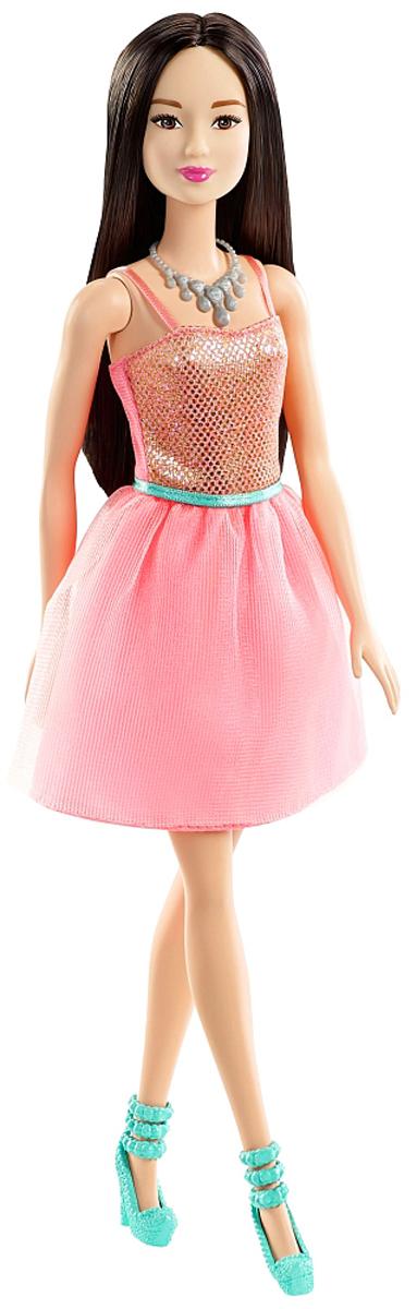 Barbie Кукла Брюнетка Сияние моды цвет платья светло-розовый