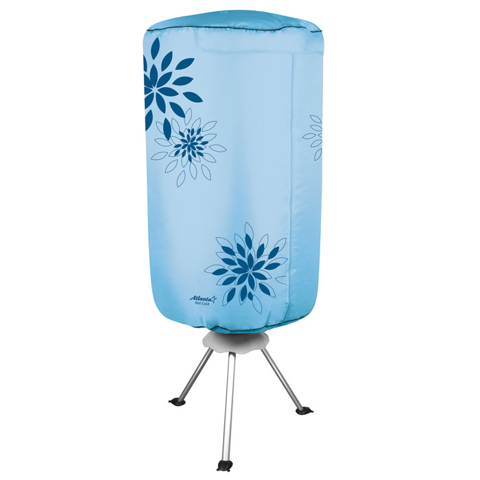 Atlanta ATH-5703, Blue сушилка для одеждыATH-5703_blueЭлектросушилка Atlanta ATH-5703 способна высушить мокрое белье всего лишь за два часа, при этом прибор займет совсем немного места. Таймер, рассчитанный на 3 часа, самостоятельно отключит устройство, если вы решили высушить одежду в свое отсутствие. Специальный вентилятор с подачей горячего воздуха, встроенный в сушилку, станет настоящей находкой для тех, кто не любит долго ждать.Легкая разборная конструкцияТаймер на 180 минутКолесики с противооткатным механизмомМощность 1000 Вт
