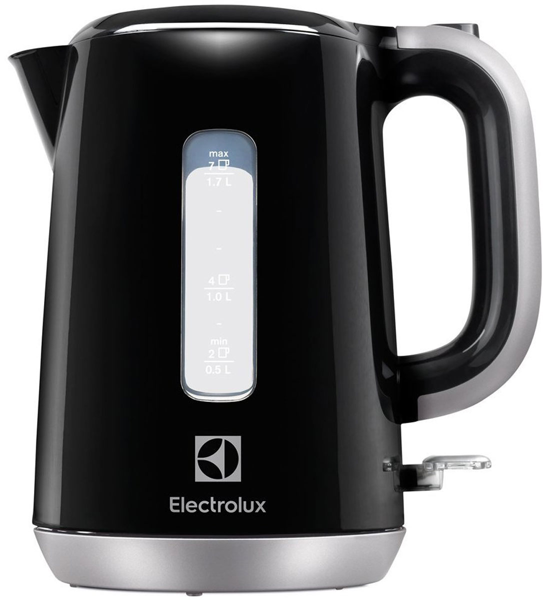 Electrolux EEWA 3300, Black чайникEEWA 3300Простой в управлении электрический чайник Electrolux EEWA 3300 станет незаменимым помощником на кухне или в офисе. Корпус выполнен из пластика. Чайник оснащен защитой от перегрева и включения без воды, еще есть автоматическое выключение при снятии его с подставки. Имеется индикатор включения, индикатор уровня воды, а также съемный фильтр для очистки воды. Данная модель устанавливается на удобную подставку и может вращаться на 360 градусов.