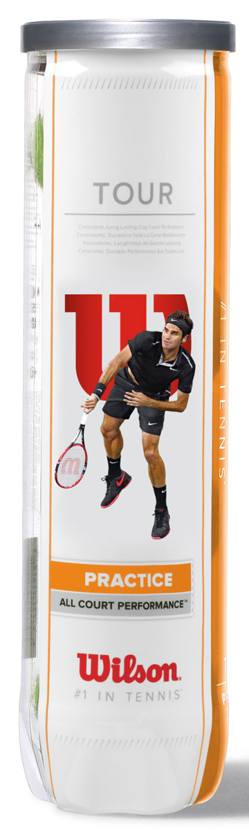 Мячи теннисные Wilson Tour Practice 4Tball мячи теннисные wilson tour clay red wrt110800
