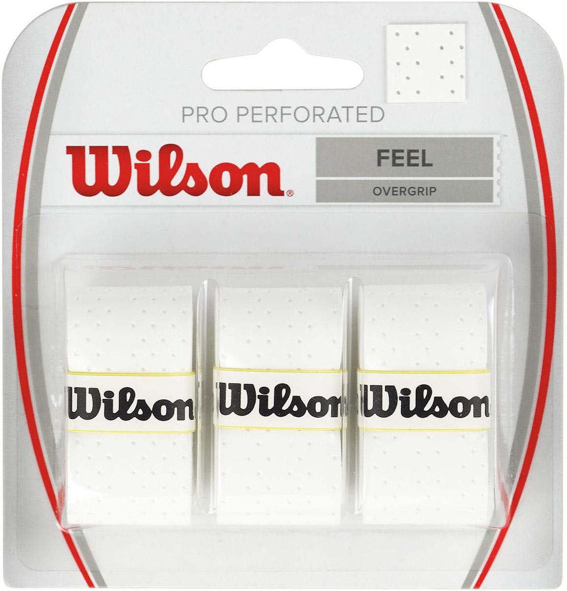 """Намотка Wilson """"Pro Perforated"""" - это самый популярный продукт на теннисном рынке, выбор профессионалов. Предназначена для намотки рукоятки теннисной ракетки. Перфорация позволяет увеличить максимальное поглощение влаги."""