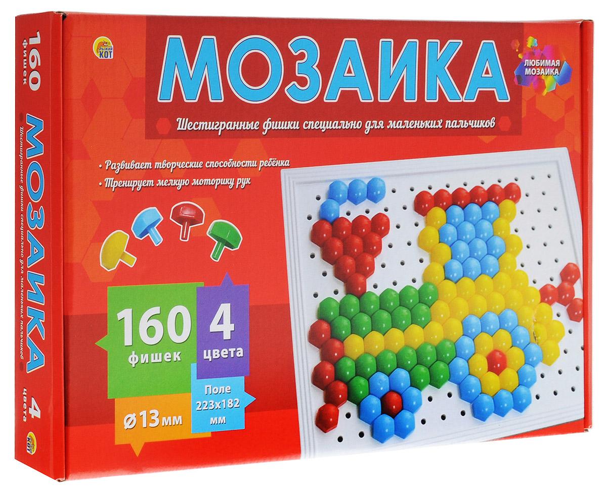 Рыжий Кот Мозаика 160 фишек издательство рыжий кот мягкая мозаика попугай формат а5 21х15 см