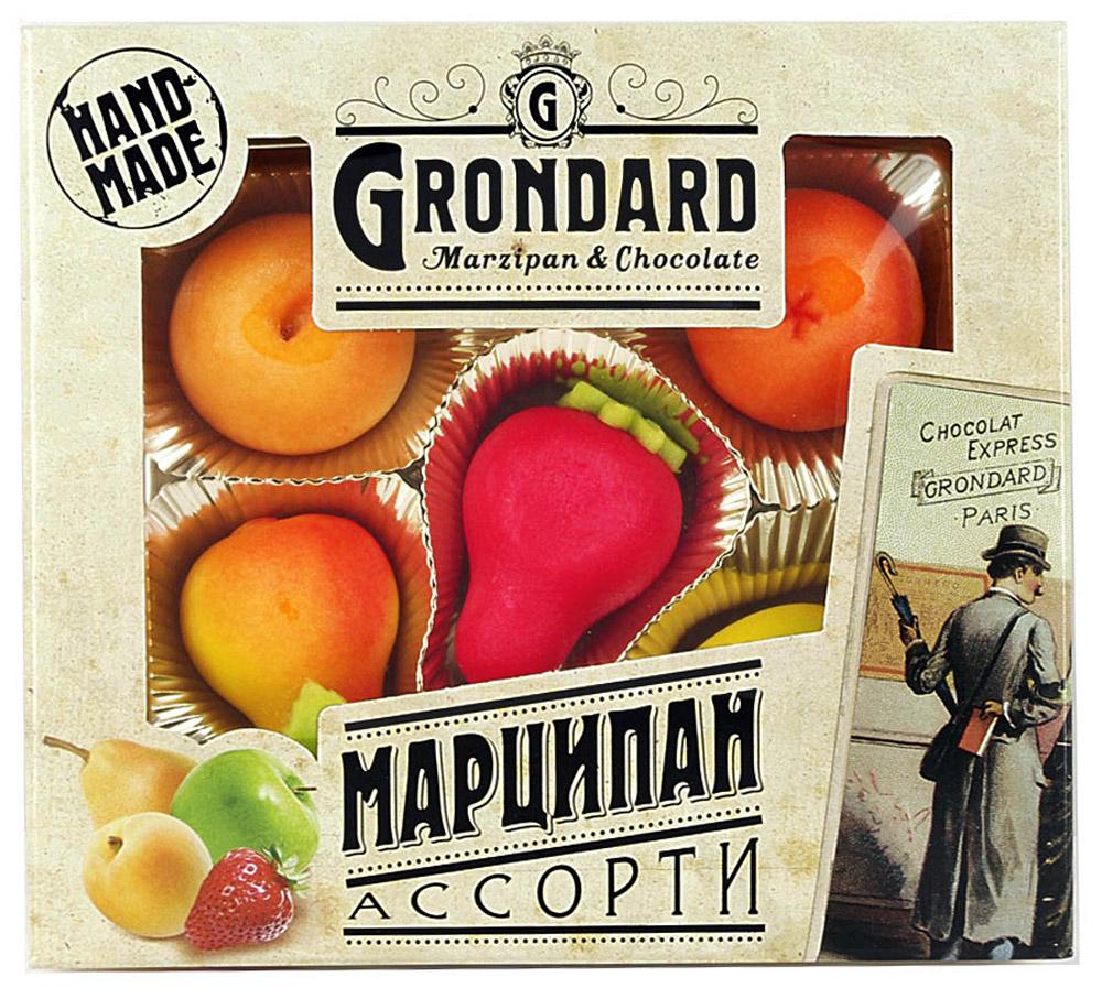 Grondard Marzipan конфеты марципановые ассорти корзиночка, 100 г14047Нежные марципановые конфеты Grondard Marzipan в оригинальном исполнении подарят истинное наслаждение великолепным вкусом. Это лакомство придется по вкусу как взрослым, так и маленьким сладкоежкам. Их изысканный и оригинальный марципановый вкус поможет перенестись в атмосферу мечтаний и грез. Очаруйтесь их вкусом, оцените все грани этого изящного лакомства от компании Grondard.