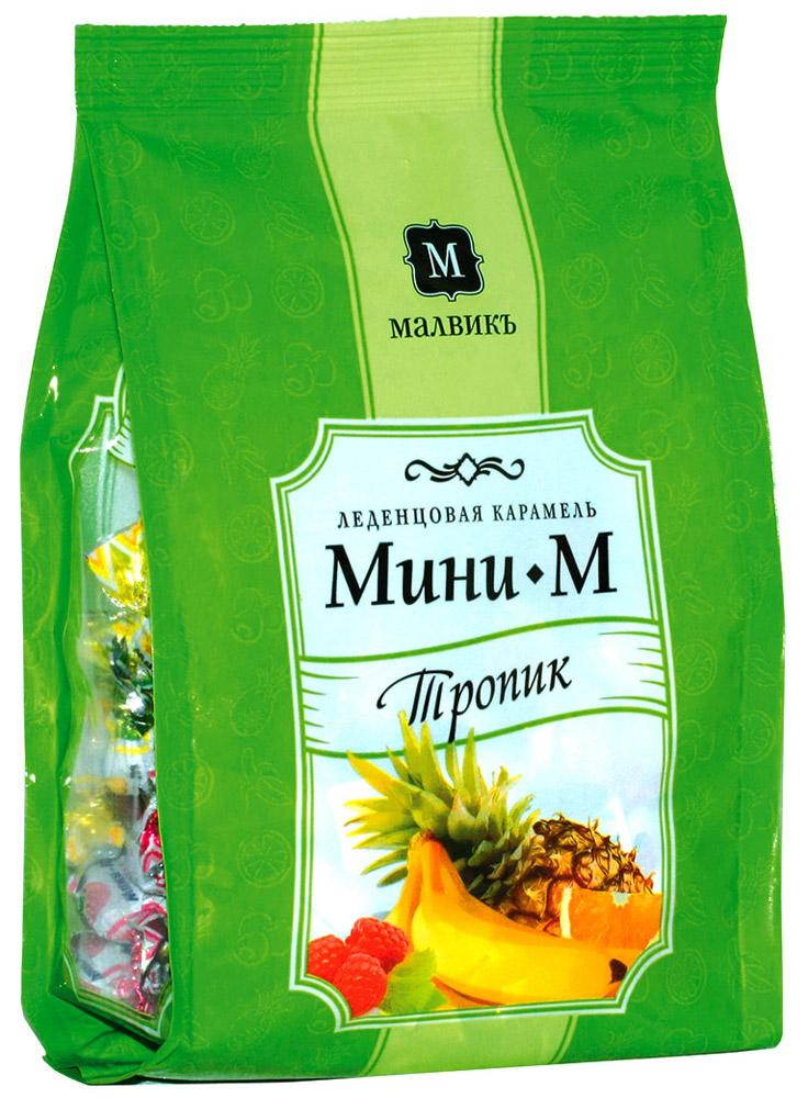 Малвикъ Мини-м Тропик ассорти леденцовая карамель, 150 г14507Леденцовая карамель Малвикъ Мини-М - это вкусное и натуральное лакомство, наслаждаться которым можно практически бесконечно. Классическая коллекция, приготовленная по традиционным рецептам, состоит из карамели со вкусом ананаса, апельсина, банана, малины.