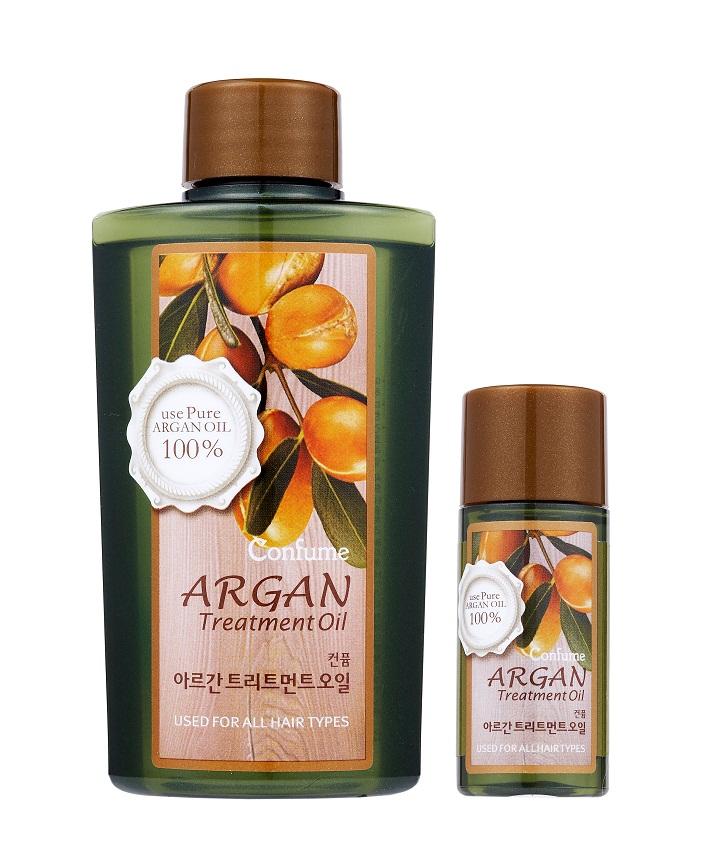 Confume Argan Набор Аргановое масло, 120 мл + масло, 20 мл8803348011170Ценное масло арганы на 80% состоит из ненасыщенных жирных кислот, которые являются незаменимыми элементами питания для волос и кожи. Также масло содержит высокую концентрацию натуральных антиоксидантов – полифенолов и токоферолов, обеспечивающих защиту от повреждающего действия свободных радикалов. Благодаря такому составу аргановое масло обладает комплексным восстанавливающим и ухаживающим свойством, предотвращает сухость кожи, оказывает омолаживающее действие, повышает эластичность и упругость.Содержит высокую концентрацию натуральных антиоксидантов – полифенолов и токоферолов, обеспечивающих защиту от повреждающего действия свободных радикалов.