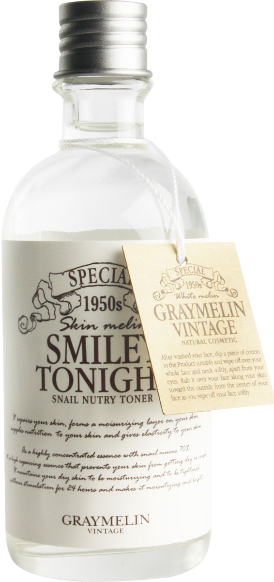 Graymelin Питательный тоник с экстрактом слизи улитки Smiley Tonight Snail Nutry Toner, 130 мл graymelin smiley tonight snail nutry emulsion