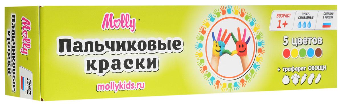 Molly Краски пальчиковые с трафаретом Овощи 5 цветовFP-09Краски пальчиковые с трафаретом Овощи Molly отлично подойдут для первого творчества малыша.Краски подходят для раннего обучения цветам, развития тонкой моторики, тактильного восприятия.Краски разработаны специально для рисования пальчиками или ладошками для детей от 1 года. В комплект входят 5 цветов (красный, желтый, зеленый, синий, коричневый), а также тематический трафарет, с помощью которого юный художник сможет дополнить свои композиции аккуратными рисунками овощей.Краски нетоксичны.Состав: пищевой краситель, целлюлозный загуститель, глицерин, мел, консервант косметический, вода питьевая.