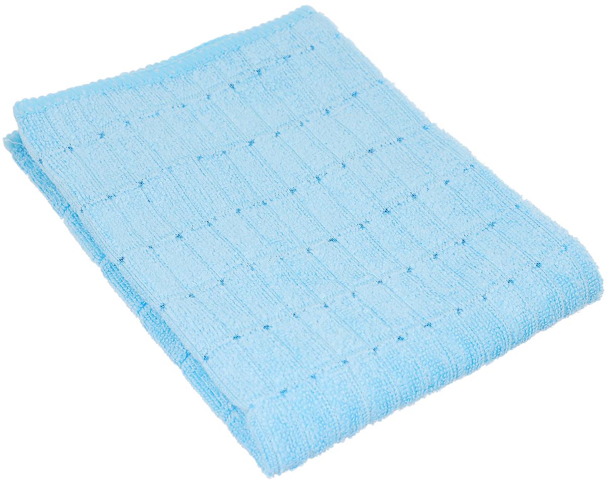Салфетка чистящая Sapfire Micro Lines, цвет: голубой, 30 х 40 см салфетка чистящая для мытья и полировки автомобиля sapfire netting cloth цвет голубой 35 х 35 см