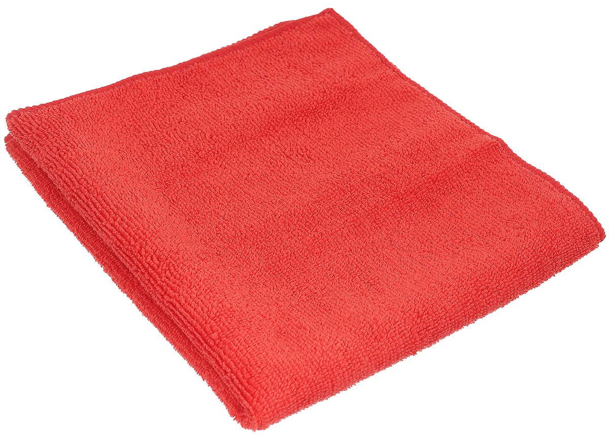 Салфетка чистящая Sapfire Cleaning Сloth, цвет: красный, 35 х 40 см салфетка чистящая для мытья и полировки автомобиля sapfire netting cloth цвет голубой 35 х 35 см