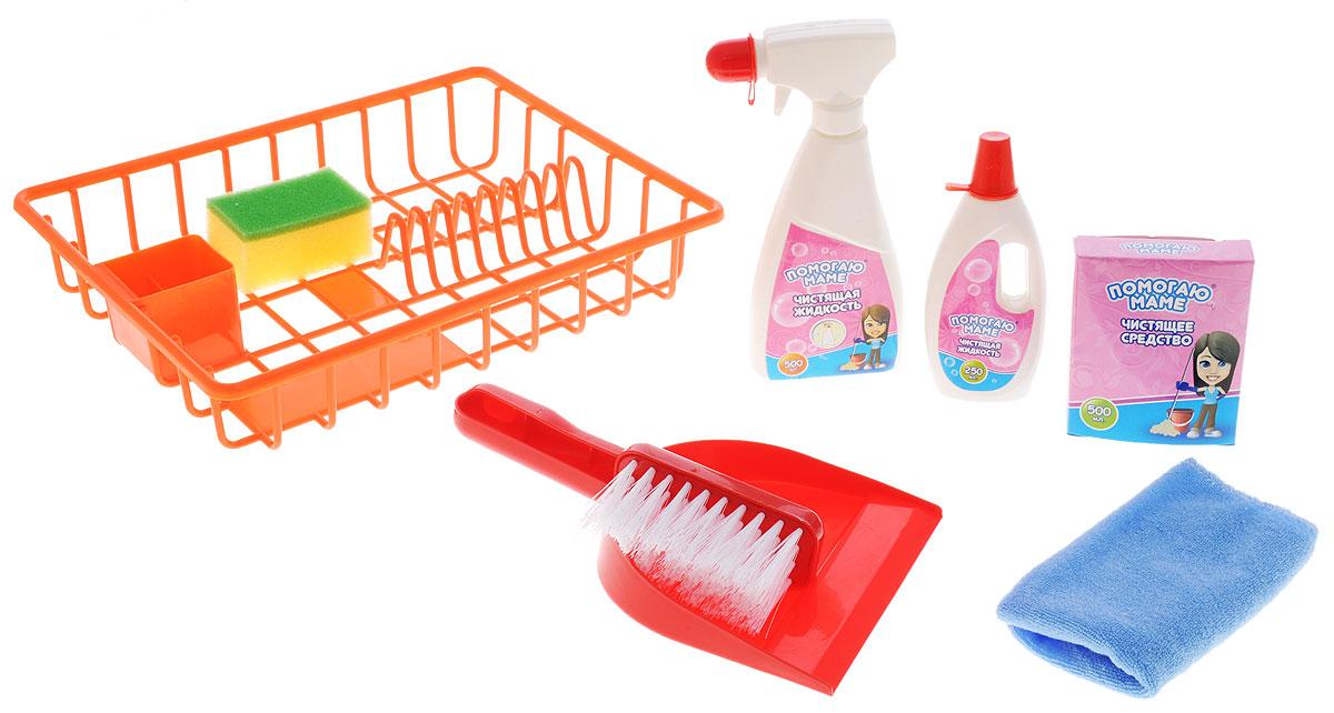 ABtoys Игровой набор Помогаю маме Генеральная уборка цвет красный игровой набор abtoys помогаю маме с посудой и продуктами 8 пр