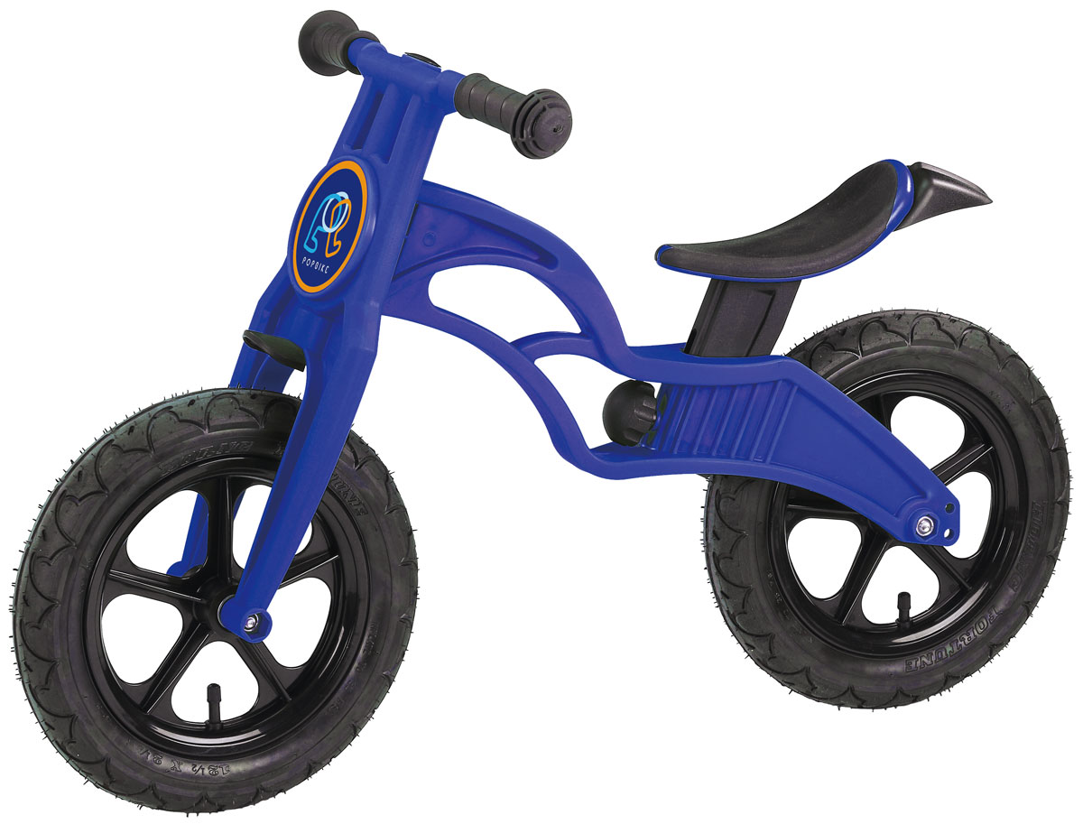 Pop Bike Беговел детский Flash с надувными колесами цвет синий