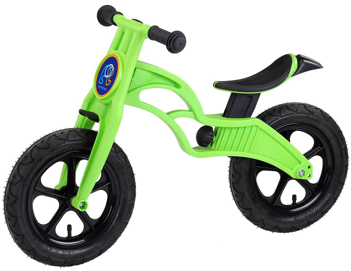 Pop Bike Детский беговел Flash с надувными колесами цвет зеленый -  Беговелы