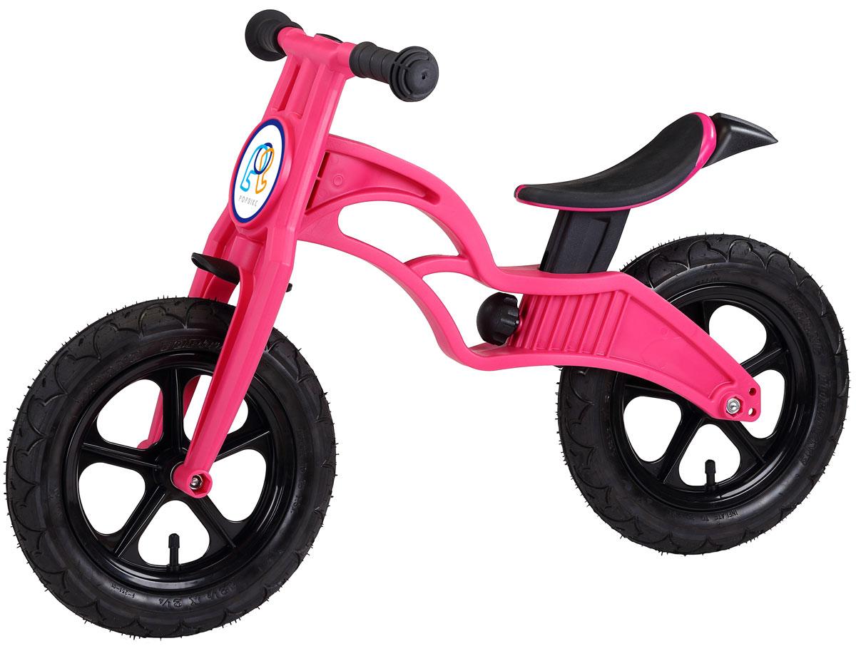 Pop Bike Беговел детский Flash с надувными колесами цвет розовый -  Беговелы