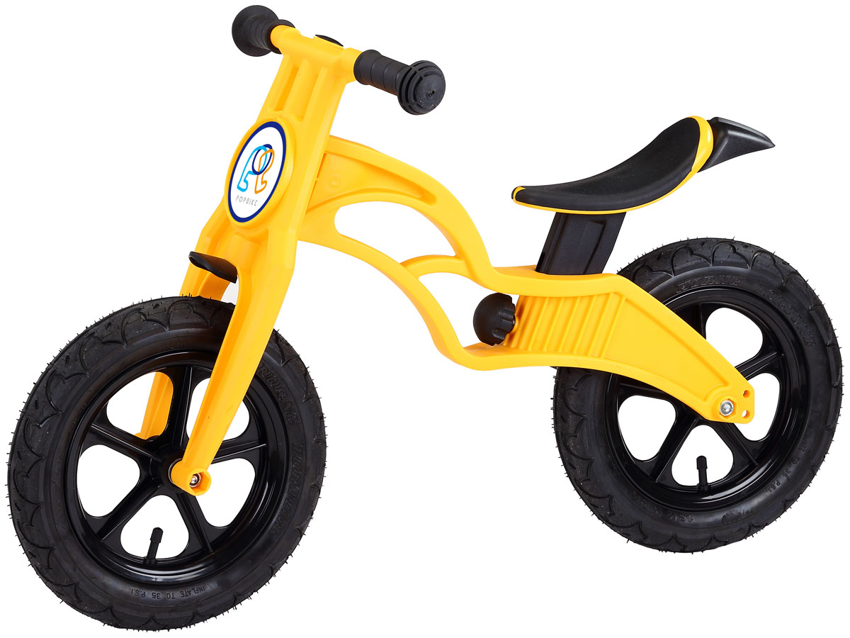 Pop Bike Беговел детский Flash с надувными колесами цвет желтый