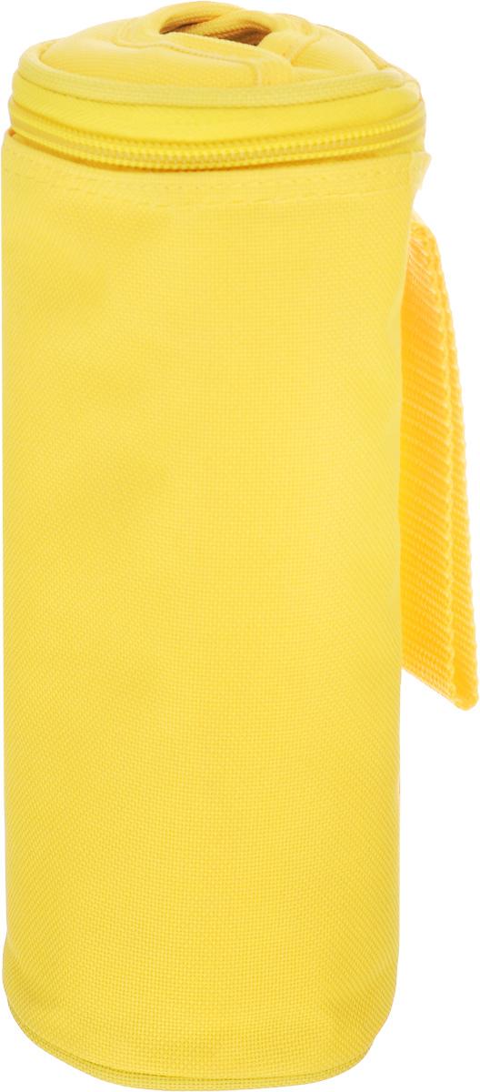 Сумка-холодильник для бутылок Tescoma Coolbag, цвет: желтый, 8,5 х 8,5 х 22 см892310_желтыйСумка-холодильник Tescoma Coolbag, изготовленная из прочного полиэстера и предназначена для сохранения температуры напитков. Сумка-холодильник имеет одно вместительное отделение. Благодаря отверстию для горлышка, емкость можно открыть в любое время, не доставая ее из сумки. Изделие идеально подходит для ПЭТ бутылок объемом 0,5 литра.Внутри сумки расположена теплоизолирующая подкладка из алюминиевой фольги. Сумка закрывается на молнию и имеет ремень для удобной переноски. Она прекрасно подходит для походов на пляж, пикников и поездок за город. С такой сумкой напитки дольше остаются охлажденными. Рекомендуется только ручная стирка.Использование в посудомоечной машине и глажка запрещены. Размер сумки-холодильника: 8,5 х 8,5 х 22 см.