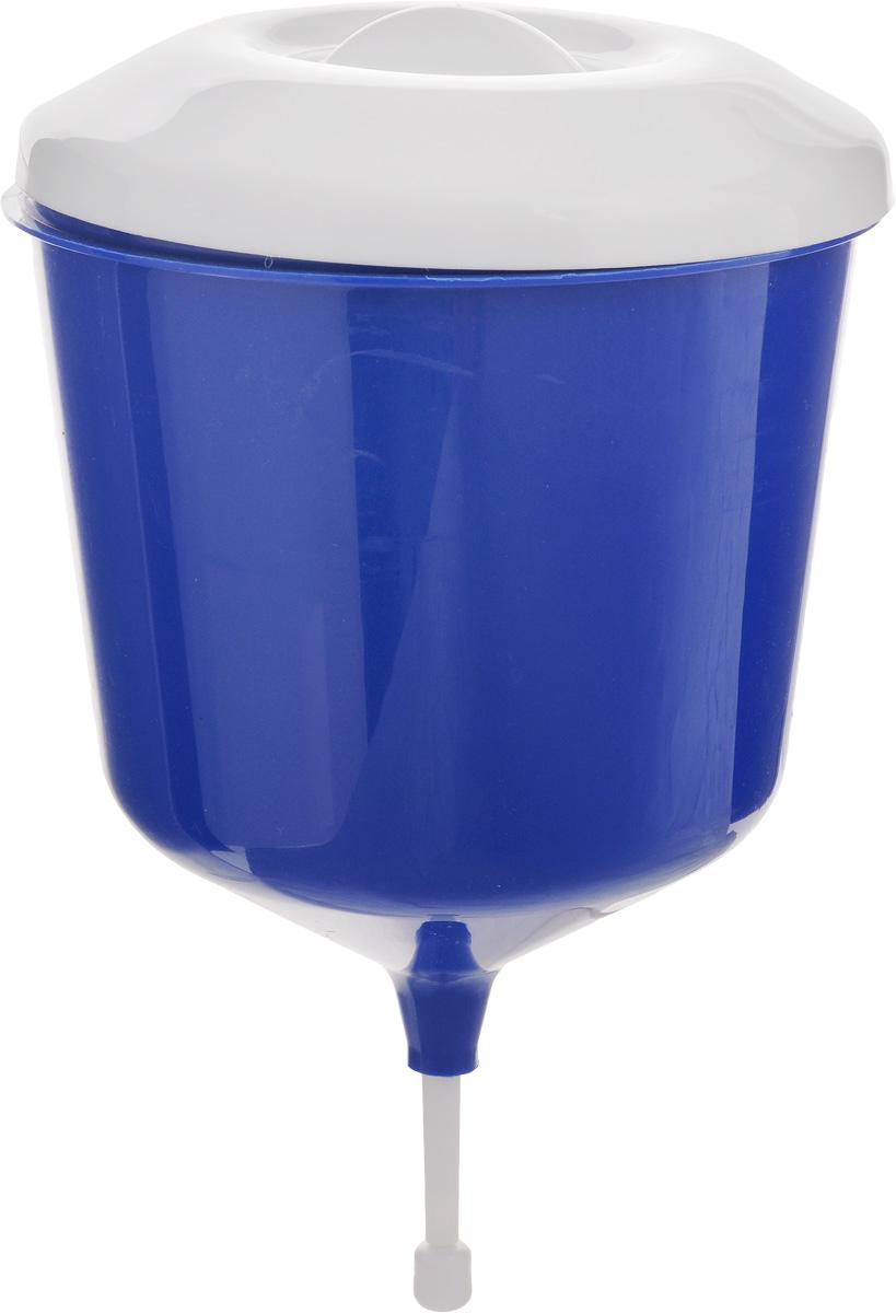 Рукомойник Альтернатива Дачник, цвет: синий, белый, 3 лМ1157_синий,белыйРукомойник Альтернатива Дачник изготовлен изпластика. Он предназначен для умывания в саду или надаче, а также отлично впишется в окружающуюобстановку. Петли обеспечивают вертикальноекрепление рукомойника с помощью шурупов (в комплектне входят). Рукомойник оснащенкрышкой, которая предотвращает попадание мусора. Рукомойник Альтернатива Дачник надежный иудобный в использовании. Диаметр рукомойника: 19 см.Высота рукомойника (с учетом крышки): 30 см.