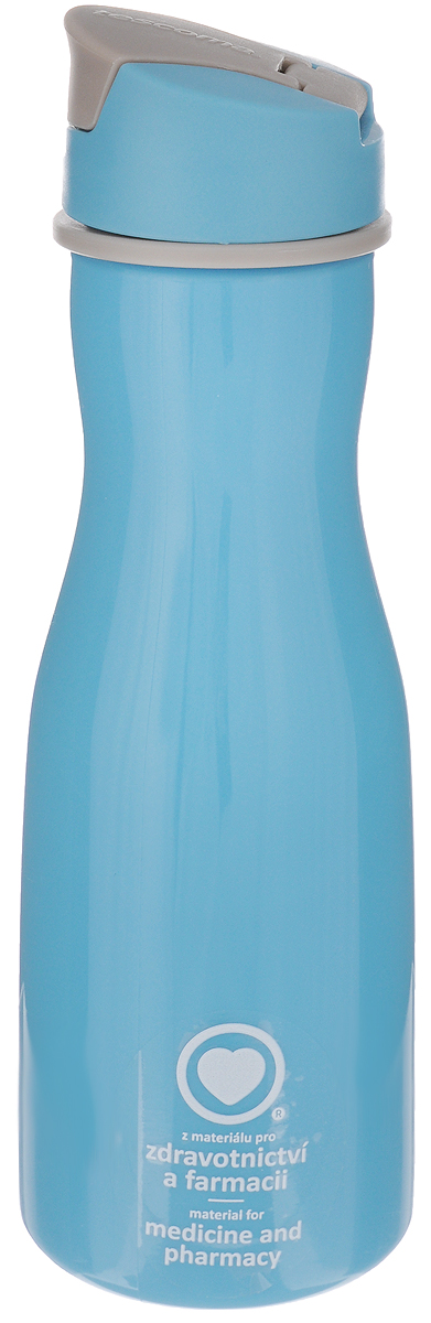 """Стильная бутылка для воды Tescoma """"Purity"""", изготовленная   из высококачественного пластика, оснащена съемным   текстильным ремешком и крышкой с силиконовым   уплотнителем, которая плотно и герметично закрывается,   сохраняя свежесть и изначальную температуру напитка.   Изделие прекрасно подойдет для использования в жаркую   погоду: вода долго сохраняет первоначальные свойства и   вкусовые качества. При необходимости в бутылку можно   наливать витаминизированные напитки, фруктовые соки, чай   или протеиновые коктейли.Такую бутылку можно без опаски положить в рюкзак,   закрепить на поясе или велосипедной раме. Она пригодится   как на тренировках, так и в походах или просто на прогулке.  Бутылку разрешено кипятить и мыть в посудомоечной   машине.Изделие можно использовать в холодильнике и   микроволновой печи. Ремешок и крышку не рекомендуется мыть в посудомоечной   машине.Диаметр горлышка бутылки: 5 см.Диаметр основания: 8 см.Высота бутылки (без учета крышки): 23 см.Длина ремешка: 11 см.    Как повысить эффективность тренировок с помощью спортивного питания? Статья OZON Гид"""