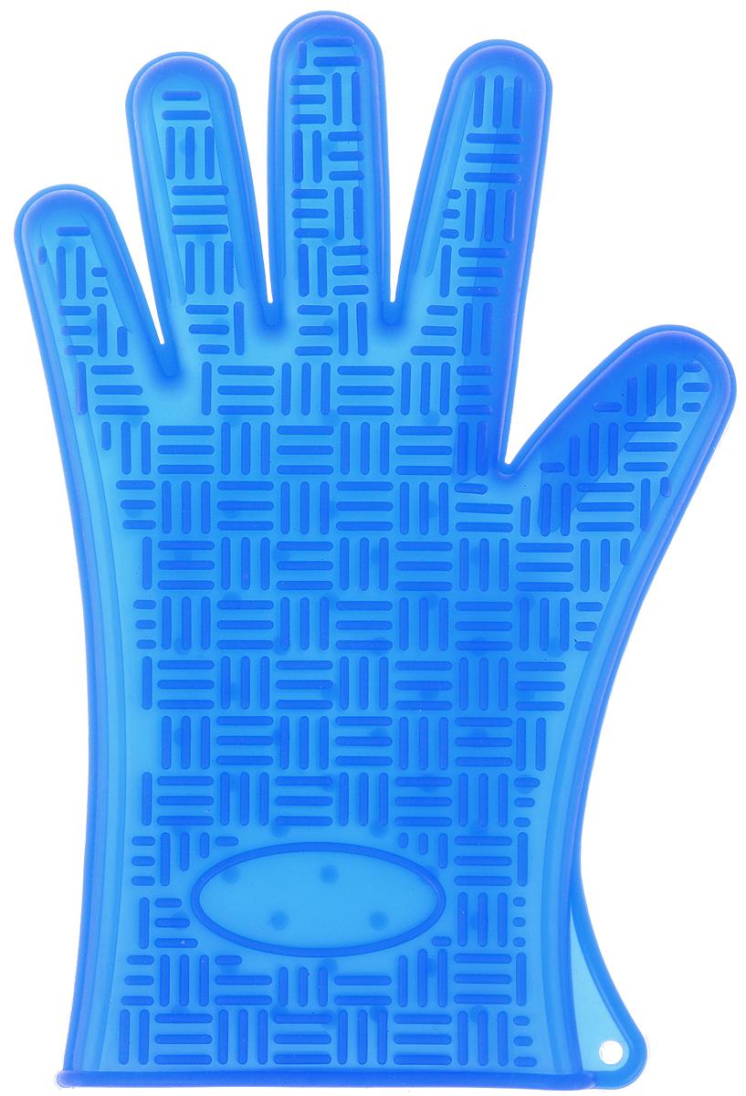 Прихватка-перчатка Mayer & Boch, силиконовая, цвет: синий, 27 х 18 см4427-3Прихватка-перчатка Mayer & Boch изготовлена из прочного цветного силикона. Она способна выдерживатьтемпературу от -40°C до +220°С. Эластична, износостойка, влагонепроницаема, легко моется, удобно и прочно сидит на руке. С помощью такой прихватки ваши руки будут защищены от ожогов, когда вы будете ставить в печь или доставать из нее выпечку.Можно мыть в посудомоечной машине.