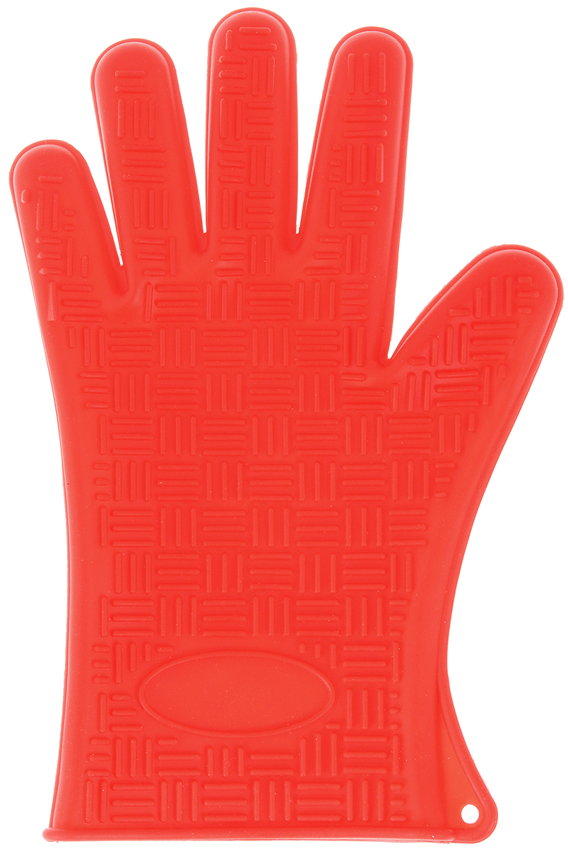 Прихватка-перчатка Mayer & Boch, силиконовая, цвет: красный, 27 х 18 см