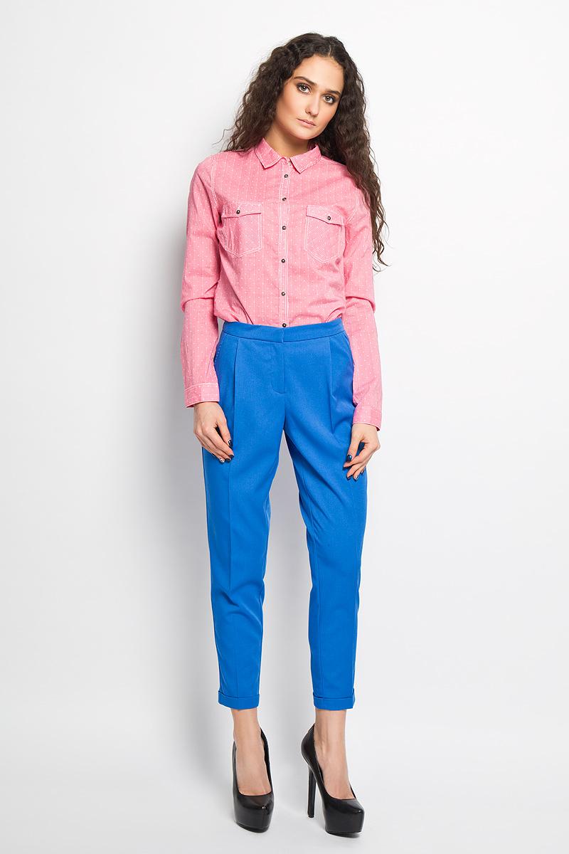 Брюки женские Sela, цвет: ярко-голубой. P-115/691-6216. Размер 42 брюки sela брюки