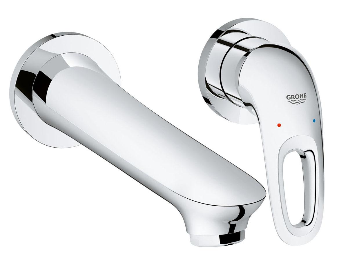 Смеситель для раковины Grohe Eurostyle New, на 2 отверстия19571003Если вы хотите интерьер современной ванной комнаты в простых и чистых линиях, то смеситель для раковины Grohe Eurostyle New встроенного настенного монтажа на два отверстия – это то, что вам нужно. Его гладкий корпус делает его простым в уходе за поверхностью, а металлическая рукоятка инстинктивно понятна в использовании. Технология AquaGuide с регулируемым аэратором позволяет максимально точно настроить поток воды при падении в раковину, смеситель также включает водосберегающую технологию EcoJoy® - это всего лишь один пример из множества технологий немецкого проектирования от Grohe, обещающих долговечность и высокую производительность. Длина излива составляет 200 мм от стены, что позволяет ему легко адаптироваться в любом современном интерьере. В рамках коллекции смесителей для ванной Eurostyle вы легко подберете продукты, идеально сочетающиеся между собой для оформления всей ванной. Для монтажа требуется скрытая монтажная часть 23571000 (не входит в комплект) с технологией SilkMove® для долговечной работы.