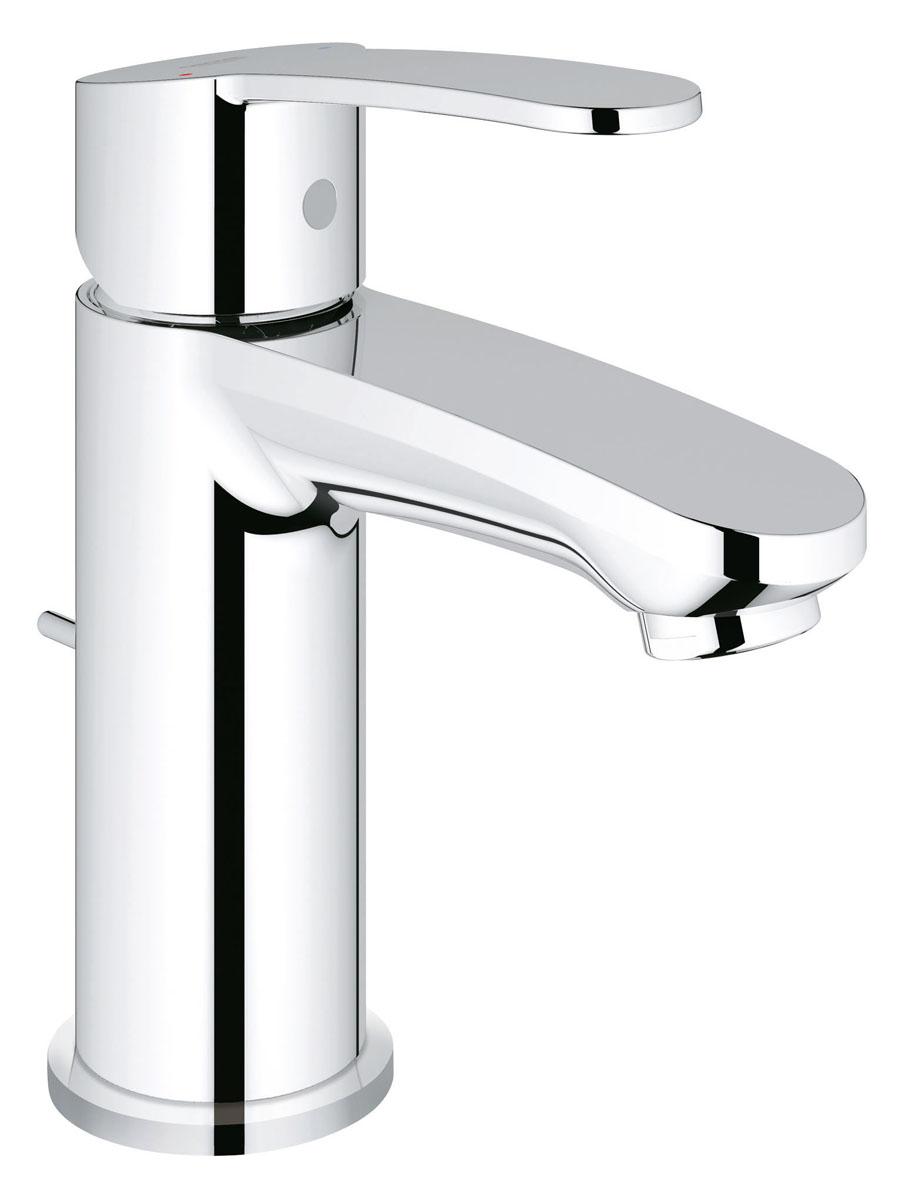 Смеситель для раковины Grohe Eurostyle Cosmopolitan, с донным клапаном23037002Элегантный внешний вид и превосходная функциональность: этот смеситель для ванной комнаты Grohe Eurostyle Cosmopolitan соответствует всем критериям, предъявляемым к оборудованию высшего класса. Являясь воплощением современного стиля в дизайне, он выделяется облегченным силуэтом корпуса и скругленными кромками излива, чье изящество подчеркивается ослепительно сияющим покрытием, которое легко содержать в чистоте. Данный смеситель оснащен простым и удобным в обращении штоковым сливным клапаном, а также встроенным керамическим картриджем высшего класса, который обеспечивает плавность хода рычага на долгие годы.