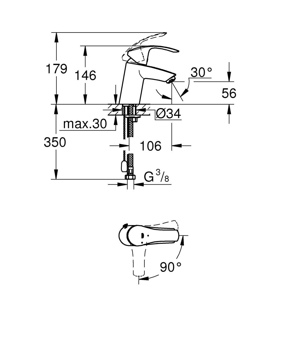 """Технология SilkMove ES, которая применяется в его конструкции, придает  смесителю для ванной комнаты Grohe """"Eurosmart New"""" важную особенность: при  центральном положении рычага подается холодная вода, что позволяет  экономить на нагреве воды. Рычаг отличается плавным ходом и управляется без  усилий - для подачи горячей воды нужно, как обычно, повернуть его влево.  Водосберегающий механизм EcoJoy обеспечивает экономию воды, достигающую  50%, чем способствует сохранению природных ресурсов и уменьшению ваших  расходов на коммунальные услуги. Хромированное покрытие StarLight придает  смесителю долговечный сияющий блеск, а цепочка с возвратным механизмом  позволяет убирать пробку для сливного отверстия в незаметное место. Система  упрощенного монтажа поможет установить смеситель с минимальными затратами  времени."""
