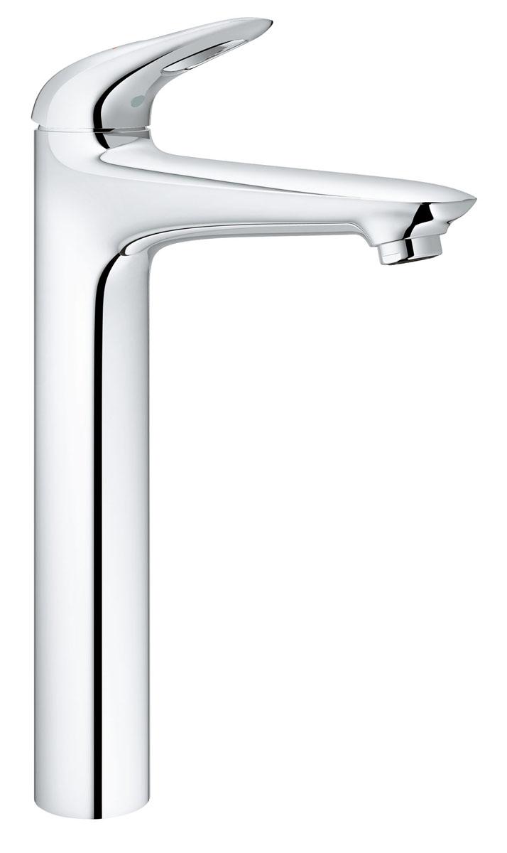 """Курс на стиль! С этим чистым классическим кубическим дизайном, стильный  однорычажный смеситель Grohe """"Eurostyle"""" для отдельностоящей раковины  идеально подойдет для тех, кто любит сдержанный и современный дизайн ванной  комнаты. Этот смеситель также содержит в себе уникальные технологии Grohe.  Многослойное, устойчивое к царапинам хромовое покрытие сохранит  свой блеск на долгие годы. Новая технология для картриджей  смесителей с джойстиком создает плавную и без усилий возможность управления  рычагом. Это означает, что вы можете точно контролировать расход и  температуру воды только легким касанием вашего пальца!"""