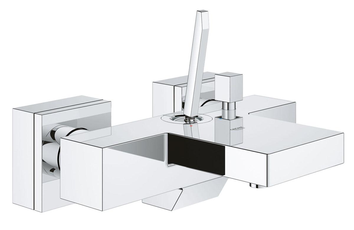 Смеситель для ванны Grohe Eurocube Joy23666000Смеситель для ванны Grohe Eurocube Joy идеально подойдут для тех, кто хочет сдержанную и современную ванную комнату. Технология FeatherControl для картриджей является инновационной и создает плавный и точный ход рычага смесителя. Это означает, что управление расходом и температурой воды никогда не было настолько точным и подконтрольным. Многослойное, устойчивое к царапинам хромовое покрытие StarLight® сохранит свой блеск на долгие годы. Этот впечатляющий смеситель прекрасно дополняет другие продукты в коллекции, такие как однорычажный смеситель для раковины Eurocube Joy.Диаметр керамического картриджа: 28 мм.Резьба: 1/2.