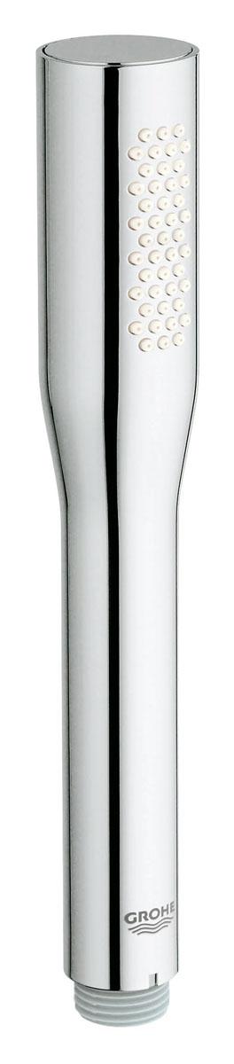 Лейка душевая Grohe Euphoria Cosmopolitan, 1 режим27367000Душевая лейка Grohe - пример гармоничного сочетания традиционной эстетики и современных технологий. Покрытие лейки, выполненное по технологии StarLight, специально разработано таким образом, чтобы противостоять загрязнениям и истиранию. Система SpeedClean позволяет делать быструю очистку отверстий от известковых отложений. Душ оснащен внутренним охлаждающим каналом для продолжительного срока службы.Универсальное крепление лейки подходит к любому стандартному шлангу.
