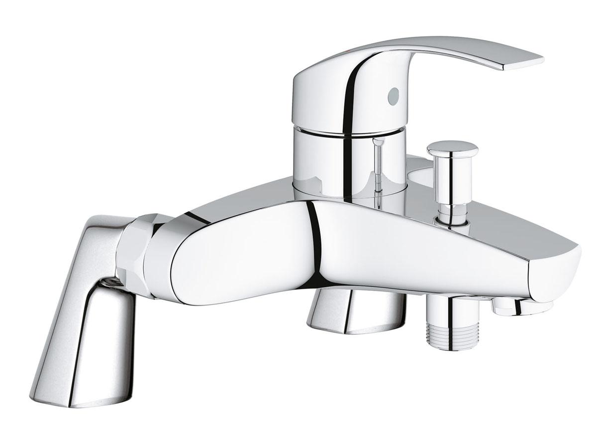 Смеситель для ванны Grohe Eurosmart New, с вертикальными подключениями35327Смеситель для ванны Grohe сочетает в себе отличныеэксплуатационные характеристики и оригинальный дизайн. Керамическийкартридж 46 мм - надежный рабочий элемент. Тело смесителя отлито извысококачественной, безопаснойдля здоровьяпищевой латуни.Смеситель Grohe эргономичен, прост в монтаже и удобен виспользовании.