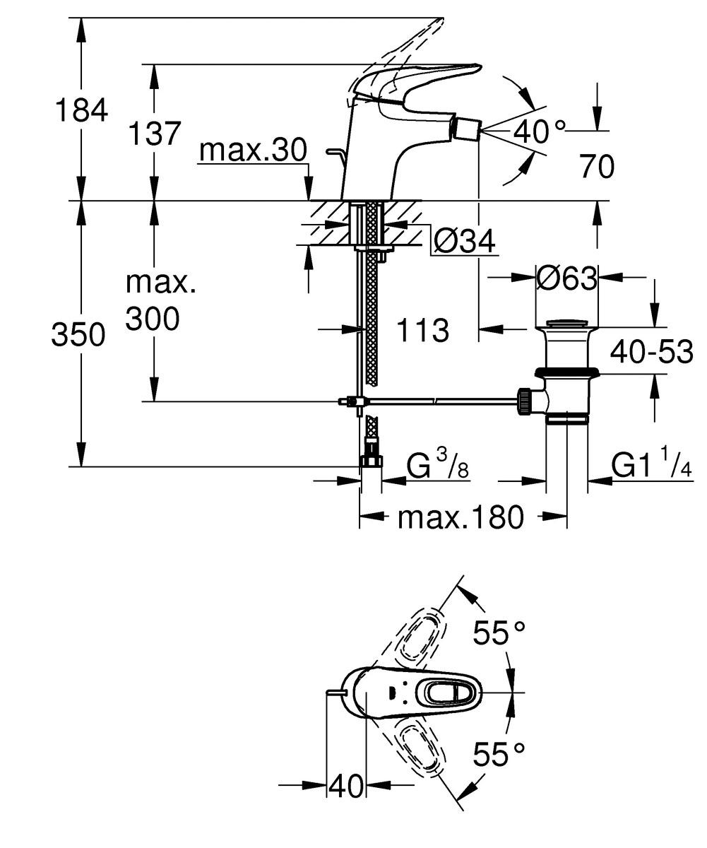 """Смеситель для биде Grohe """"Eurostyle New"""" - однорычажный смеситель, который инстинктивно  прост в использовании и легок в уходе за его  поверхностью, имеет водосберегающую технологию. Смеситель создан не только для того,  чтобы органично  дополнять интерьер вашей ванной, но в его корпусе также воплощена самая современная  технология немецкого проектирования, для прочности и долговечности их использования. Если  вы хотите дополнить свою ванную комнату смесителем, который будет прост в уходе за  поверхностью, иметь современный дизайн - этот смеситель для биде станет идеалом,  обладающим множеством полезных функций, таких как SilkMove®, обеспечивающую плавность  работы и EcoJoy® для экономии воды. В рамках коллекции смесителей для ванной Eurostyle вы  легко подберете продукты, идеально сочетающиеся между собой для оформления всей ванной.  Спроектирован специально для легкого и быстрого монтажа – это лучший выбор для вас.  Диаметр керамического картриджа: 35 мм. Резьба: 3/8""""."""