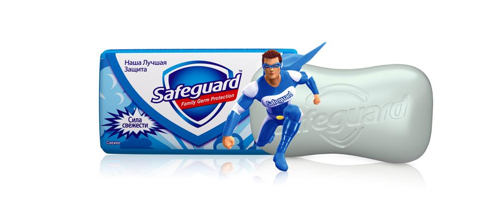 Safeguard Антибактериальное мыло Свежее, 90 гSG-81540426Мыло Safeguard на 100% рекомендовано специалистами по всему миру! Антибактериальное мыло Safeguard Свежее теперь с супергероем на пачке, чтобы ваш малыш мыл руки весело и с удовольствием! Присоединяйтесь к Командору Safeguard в его борьбе с бактериями!Антибактериальное мыло Safeguard Свежее уничтожает до 99,9% всех известных болезнетворных бактерий и ухаживает за кожей рук • поверхностно активные вещества эффективно удаляют все виды микробов в момент смывания • антибактериальный комплекс обеспечивает защиту от самых опасных граммоположительных бактерии (Стрептококк, Стафилококк) до 12 часов после смывания • смягчающие компоненты оказывают успокаивающее воздействие на кожу рук, и ваши руки сияют здоровьем Это мыло - просто находка! Отличная защита от микробов, не вызывает раздражения, пользуемся всей семьей