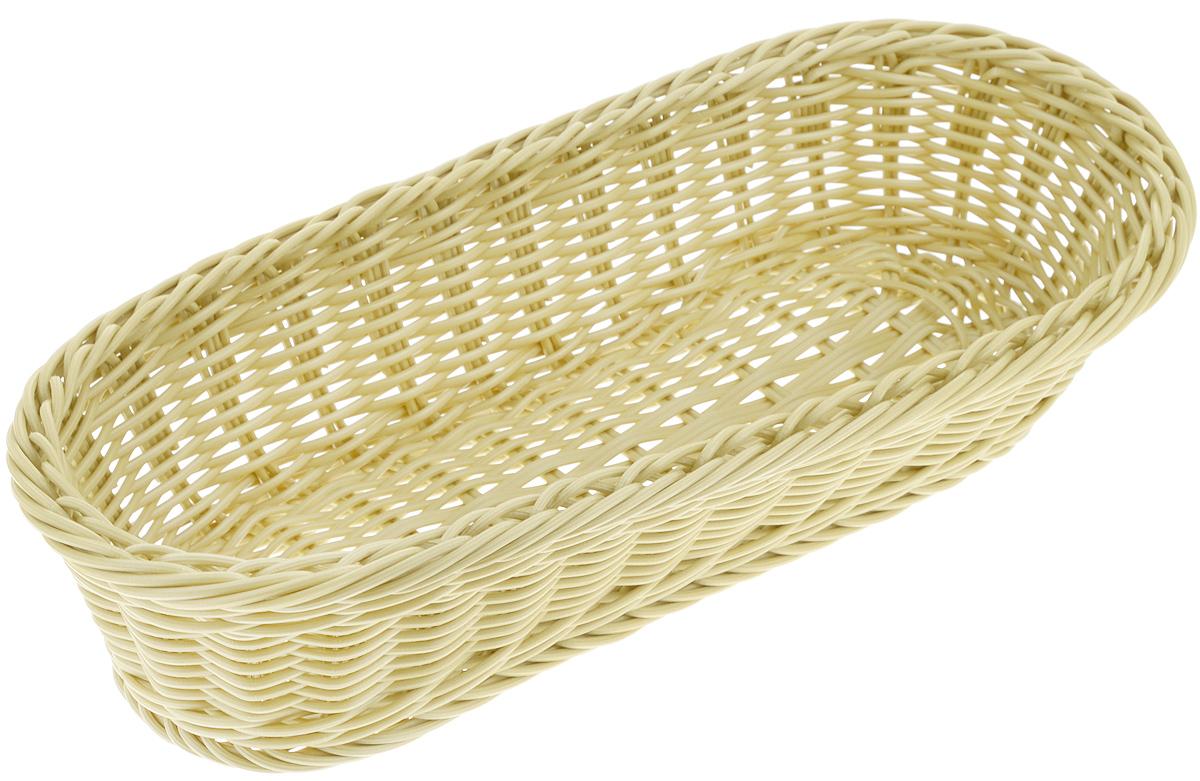 Корзинка Tescoma Flair, цвет: оливковый, 36 x 16,5 х 9см665038_оливковыйПлетеная корзинка Tescoma Flair изготовлена из устойчивого к воздействию окружающей среды искусственного волокна. Идеально подходит для хранения выпечки, конфет, фруктов, косметики, рукоделия и оформления подарков. Она не требует тщательного ухода, не впитывает запахи, не боится воды и не разрушается от перепада температур. Корзинка Tescoma Flair отлично впишется в интерьер вашего дома.Можно мыть в посудомоечной машине.