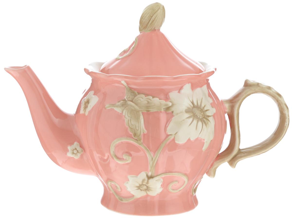 Чайник заварочный Loraine Цветы, цвет: розовый, 900 мл22445_розовый,белые цветыЗаварочный чайник Loraine Цветы изготовлен из высококачественной доломитовой керамики высокого качества без примеси ПФОК. Глазурованное покрытие делает поверхность абсолютно гладкой и легкой для чистки. Изделие прекрасно подходит для заваривания вкусного и ароматного чая, травяных настоев. Оригинальный дизайн сделает чайник настоящим украшением стола. Он удобен в использовании и понравится каждому.Можно мыть в посудомоечной машине и использовать в микроволновой печи. Диаметр чайника (по верхнему краю): 8,5 см. Высота чайника (без учета крышки): 13 см.