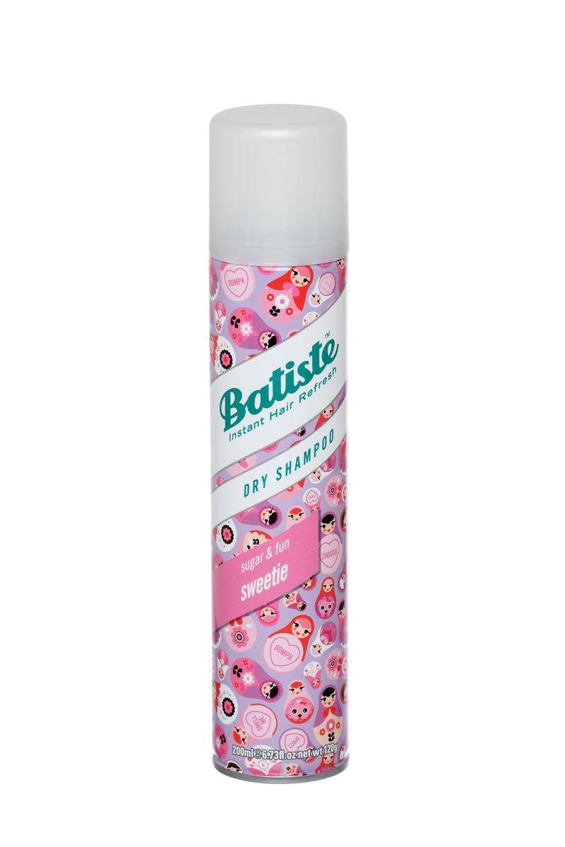 Batiste Sweetie Сухой шампунь, 200 мл503536Новинка придется по вкусу любительницам изящных «девочковых» композиций и создана для тех, кто не может жить без легкого ванильного шлейфа, подчеркивающего женственность и сексуальность. Добавьте немного сладкой игривости к вашему стилю с Batiste Sweetie! Заряженный нотами малины и ванили, этот шампунь не только очищает волосы без воды и сушки феном, но и придает им потрясающий неотразимый аромат. Batiste Sweetie – сухой шампунь, с ароматом сладкой свежести: мятного мороженого, фруктового сорбета, клубничных леденцов, свежих капкейков и сочных макарун.