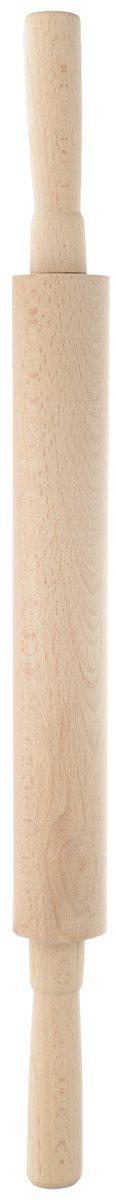 Скалка Хозяюшка, длина 51 см40-33Скалка Хозяюшка изготовлена из бука. Изделие оснащено крутящимися ручками. Бук наряду с дубом и тиком относится к ценным твердолиственным породам элитной группы категории А, класса люкс. По структуре древесины бук считается менее рыхлым, чем дуб, и более гибким, чем тик, при этом не уступает по прочности этим двум породам, а по красоте даже превосходит их. Бук отличают, прежде всего, уникальная текстура и естественный белый с желтовато-красным оттенком, со временем переходящим в розовато-коричневый, цвет древесины. Бук прекрасно поддается шлифовке и полировке. Бук боится влаги, но, как в случае со всеми без исключения скалками из древесины, вопрос влагостойкости решается пропиткой дерева специальным минеральным или льняным маслом. Масло защищает скалку от коробления, рассыхания и растрескивания. Именно поэтому все скалки Хозяюшка обработаны льняным маслом и упакованы в пленку. Такая скалка поможет с легкостью готовить ваши любимые блюда. Длина скалки: 51 см. Длина валика: 28,5 см. Диаметр валика: 4 см.