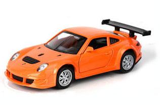 ТехноПарк Модель автомобиля Porsche 911 GT3 RSR цвет оранжевый модель машины schuco n191 1 87 911