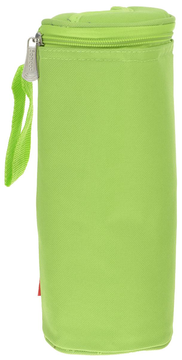 Сумка-холодильник Tescoma Coolbag, цвет: салатовый, 10,5 х 10,5 х 25 см892312Сумка-холодильник Tescoma Coolbag, изготовленная из прочного полиэстера и полипропиленовой фольгированной пленки, предназначена для сохранения температуры напитков. Сумка-холодильник имеет одно вместительное отделение. Благодаря отверстию для горлышка, емкость можно открыть в любое время, не доставая ее из сумки. Изделие идеально подходит для ПЭТ бутылок объемом 0,75-1 литра.Внутри сумки расположена теплоизолирующая подкладка из алюминиевой фольги. Сумка закрывается на молнию и имеет регулируемый ремень для удобной переноски. Она прекрасно подходит для походов на пляж, пикников и поездок за город. С такой сумкой напитки дольше остаются охлажденными. Рекомендуется чистить влажным полотенцем.Нельзя мыть в посудомоечной машине, не стирать.