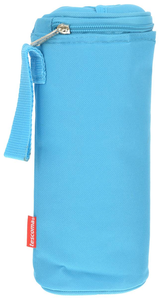 Сумка-холодильник Tescoma Coolbag, цвет: голубой, 10,5 х 10,5 х 25 см892312_голубойСумка-холодильник Tescoma Coolbag, изготовленная из прочного полиэстера и полипропиленовой фольгированной пленки, предназначена для сохранения температуры напитков. Сумка-холодильник имеет одно вместительное отделение. Благодаря отверстию для горлышка, емкость можно открыть в любое время, не доставая ее из сумки. Изделие идеально подходит для ПЭТ бутылок объемом 0,75-1 литра.Внутри сумки расположена теплоизолирующая подкладка из алюминиевой фольги. Сумка закрывается на молнию и имеет регулируемый ремень для удобной переноски. Она прекрасно подходит для походов на пляж, пикников и поездок за город. С такой сумкой напитки дольше остаются охлажденными. Рекомендуется чистить влажным полотенцем.Нельзя мыть в посудомоечной машине, не стирать.