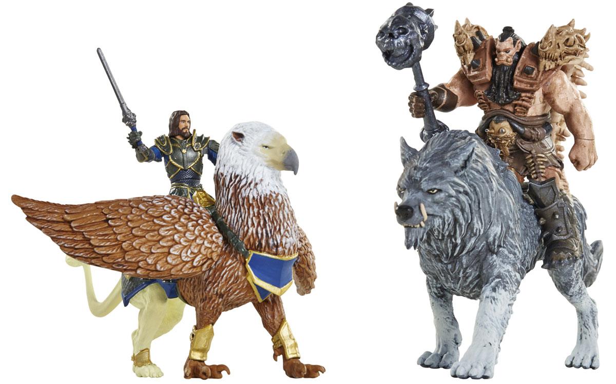 Warcraft. Набор фигурок Лотар, Чернорук, Грифон и Волк (4 шт) набор фигурок good dinosaur кеттл и раптор 62305