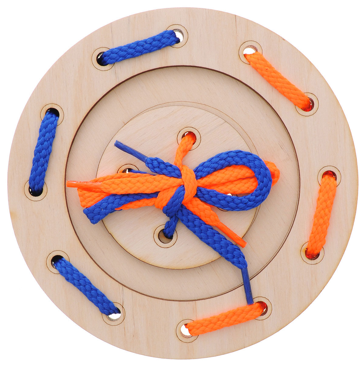 Мастер Вуд Игра-шнуровка Пуговичка цвет синий оранжевый мастер вуд игра шнуровка пуговичка цвет синий желтый
